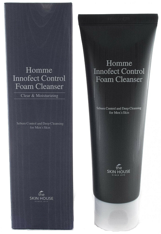 Men Deep Cleansing Matte Foam - The Skin House Homme Innofect Control Foam Cleanser — photo N1