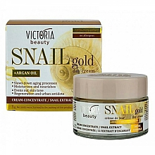 Fragrances, Perfumes, Cosmetics Snail Mucin Day Cream - Victoria Beauty Snail Gold Argan Oil Day Cream