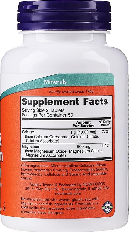 """Dietary Supplement """"Calcium & Magnesium"""" - Now Foods Calcium & Magnesium — photo N2"""