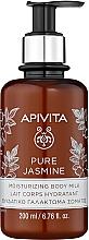 "Fragrances, Perfumes, Cosmetics Moisturizing Body Milk ""Natural Jasmine"" - Apivita Pure Jasmine Moisturizing Body Milk"