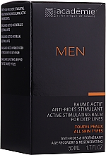 Fragrances, Perfumes, Cosmetics Active Stimulating After Shave Cream Balm - Academie Men Active Stimulating Balm for Deep Lines