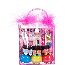 Fragrances, Perfumes, Cosmetics Set in Cosmetic Bag with Pompoms - Tutu Peel-Off (n/polish/5mlx3 + bag)