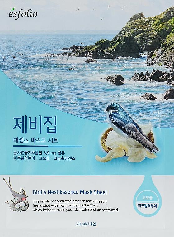 "Sheet Mask ""Swallow's Nest Extract"" - Esfolio Bird's Nest Essence Mask Sheet"