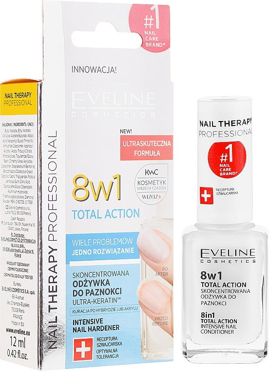Nail Repairer 8in1 - Eveline Cosmetics Nail Therapy Total Action 8 in 1