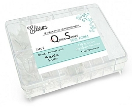 Fragrances, Perfumes, Cosmetics Disposable Nail Extension Forms - Elisium Quick Shape Nail Form Typ 2