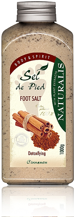 Foot Salt Bath - Naturalis Sep de Pied Cinnamon Foot Salt
