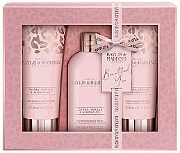 Fragrances, Perfumes, Cosmetics Set - Baylis & Harding Jojoba, Vanilla & Almond Oil (b/lot/200ml + b/wash/300ml + sh/cr/200ml)