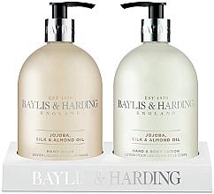 Fragrances, Perfumes, Cosmetics Set - Baylis & Harding Royal Bouquet Jojoba, Silk and Almond Oil (b/lot/500ml + soap/500ml)