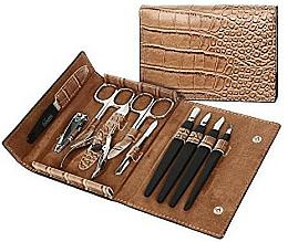 "Fragrances, Perfumes, Cosmetics Manicure Nail Set ""PL252"", light brown - DuKaS"