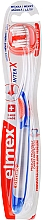 Fragrances, Perfumes, Cosmetics Soft Toothbrush, transparent with blue and orange - Elmex Toothbrush Caries Protection InterX Soft Short Head