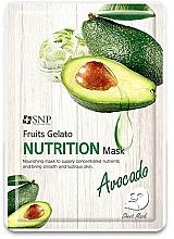 Fragrances, Perfumes, Cosmetics Nourishing Avocado Face Mask - SNP Fruits Gelato Nutrition Mask