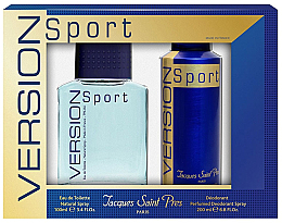 Fragrances, Perfumes, Cosmetics Ulric de Varens Jacques Saint Pres Version Sport - Set (edt/100ml + deo/spray/200ml)