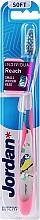 Fragrances, Perfumes, Cosmetics Soft Toothbrush with Cap, transparent-pink with bird - Jordan Individual Reach Soft