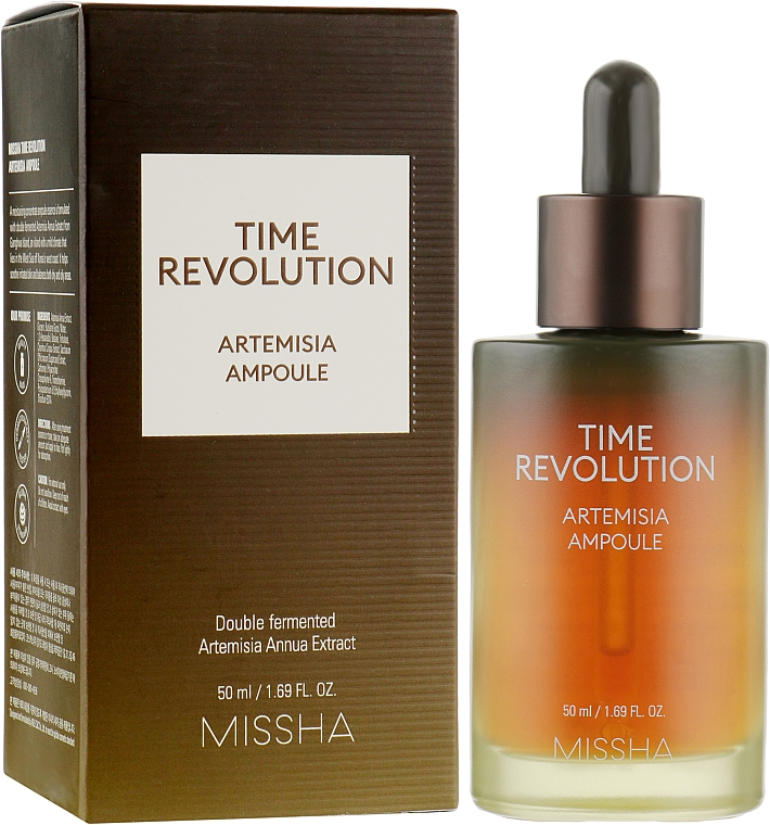 Concentrated Serum-Ampoule with Wormwood Extract - Missha Time Revolution Artemisia Ampoule