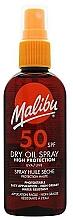 Fragrances, Perfumes, Cosmetics Sunscreen Body Dry Oil - Malibu Continuous Dry Oil Spray SPF 50