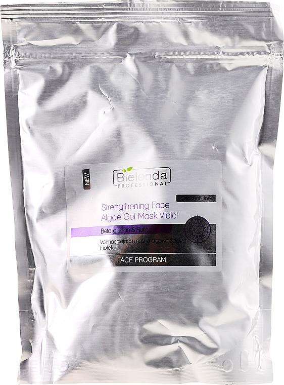 """Firming Alginate Gel Mask """"Violet"""" - Bielenda Professional Program Face Strengthening Face Algae Gel Mask Violet (refill)"""