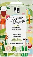 Fragrances, Perfumes, Cosmetics Almond & Pomelo Cream Peeling + Cream Mask - AA Voyage Voyage 2 In 1