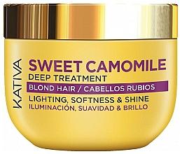 Fragrances, Perfumes, Cosmetics Mask for Blonde Hair - Kativa Sweet Camomile Deep Treatment