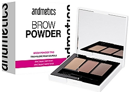 Fragrances, Perfumes, Cosmetics Brow Powder - Andmetics Brow Powder Trio