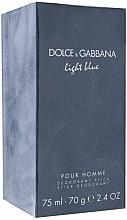 Fragrances, Perfumes, Cosmetics Dolce & Gabbana Light Blue pour Homme - Deodorant Stick