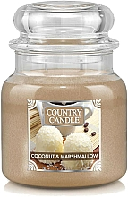 Fragrances, Perfumes, Cosmetics Scented Candle in Jar - Country Candle Coconut & Marshmallow