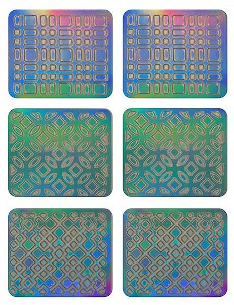 Nail Art Stickers, 3708 - Neess Patternness