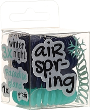 Fragrances, Perfumes, Cosmetics Elastic Hair Bands, dark blue+turquoise, 4 pcs - Hair Springs