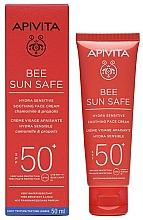 Fragrances, Perfumes, Cosmetics Sun Cream - Apivita Bee Sun Safe Hydra Sensitive Soothing Face Cream SPF50