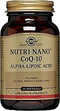 "Fragrances, Perfumes, Cosmetics Dietary Supplement ""Alpha Lipoic Acid"" - Solgar Nutri-Nano CoQ-10"