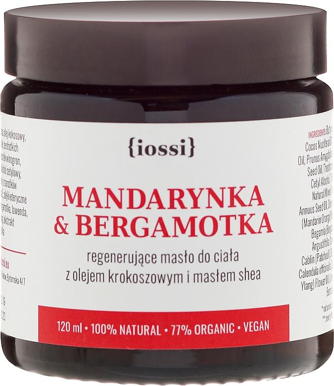 """Body Regenerating Oil """"Tangerine and Bergamot"""" - Iossi Regenerating Body Butter"""