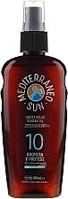 Fragrances, Perfumes, Cosmetics Tanning Oil - Mediterraneo Sun Coconut Suntan Oil SPF10