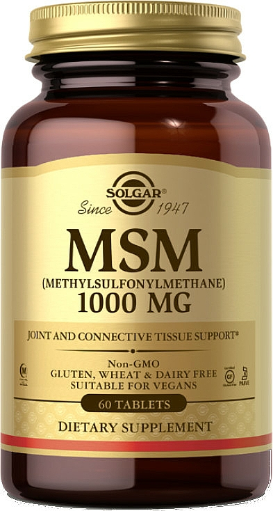 Dietary Supplement - Solgar MSM 1000 Mg — photo N1