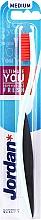 Fragrances, Perfumes, Cosmetics Medium Toothbrush, black-mint with pink bristle - Jordan Ultimate You Medium