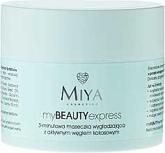 Fragrances, Perfumes, Cosmetics Smoothing Mask with Active Coconut Charcoal - Miya Cosmetics My Beauty Express 3 Minute Mask