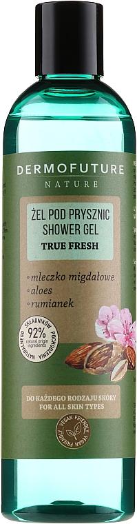 """Shower Gel """"Almond Milk & Aloe Vera & Chamomile"""" - Dermofuture Nature Shower Gel True Fresh"""