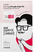 Fragrances, Perfumes, Cosmetics Set - COSRX One Step Pimple Clear Kit (gel/1.2ml + pad/5mlX2EA + mask/21ml)