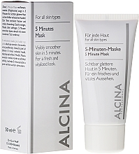 Fragrances, Perfumes, Cosmetics Facial 5-Minute Express-Mask - Alcina B 5 Minute Mask