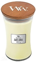 Fragrances, Perfumes, Cosmetics Scented Candle in Glass - WoodWick Hourglass Candle Fig Leaf and Tuberose