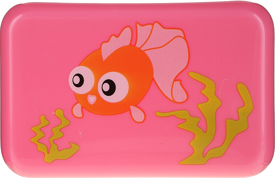 Kids Soap Dish, 6024, pink with fish - Donegal