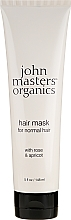 "Fragrances, Perfumes, Cosmetics Normal Hair Mask ""Rose & Apricot"" - John Masters Organics Hair Mask For Normal Hair with Rose & Apricot"