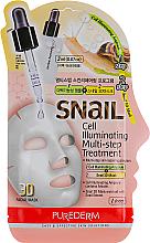 "Fragrances, Perfumes, Cosmetics 3D Sheet Mask ""Multi-Step + Serum"" - Purederm Snail Cell Illuminating Multi-step Treatment"