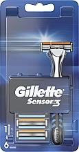 Fragrances, Perfumes, Cosmetics Shaver with 6 Replaceable Cassettes - Gillette Sensor 3