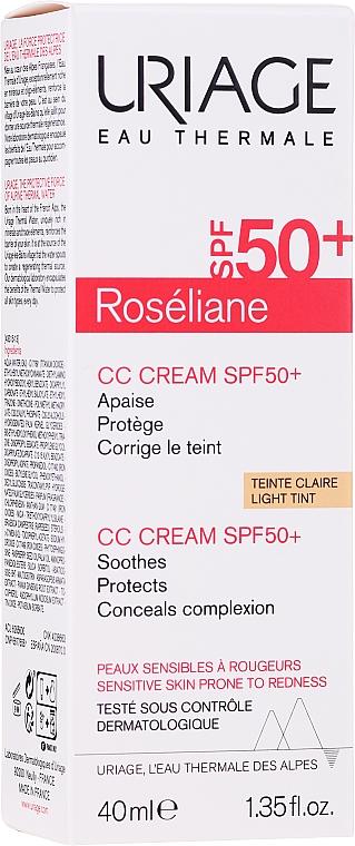 Redness Relieving Moisturizing CC-Cream - Uriage Roseliane CC Cream Moisturizing Cream SPF50+ — photo N1