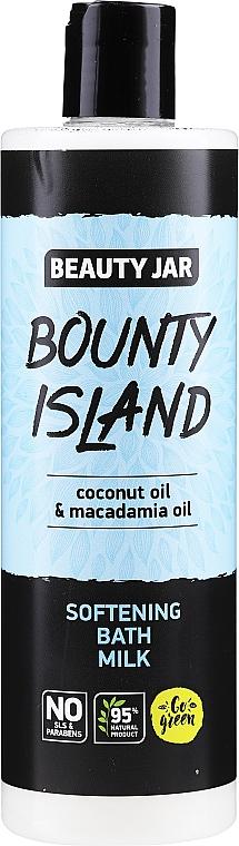 Softening Coconut & Macadamia Oils Bath Milk - Beauty Jar Bounty Island Softening Bath Milk