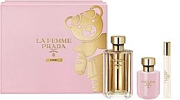 Fragrances, Perfumes, Cosmetics Prada La Femme L'Eau - Set (edt/100ml +b/lot/100ml + edt/mini/10ml)