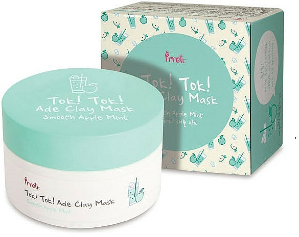 Clay Mask with Apple and Mint - Prreti Tok Tok Ade Clay Mask Smooth Apple Mint