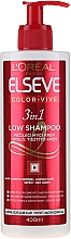 """Fragrances, Perfumes, Cosmetics 3-in-1 Colored Hair Care Shampoo """"Color Expert"""" - L'Oreal Paris Elseve Low Shampoo"""