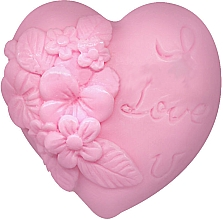 "Fragrances, Perfumes, Cosmetics Glycerin Soap ""Love Heart"", pink - Bulgarian Rose Soap"