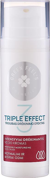Intensively Moisturizing Cucumber & Aloe Cream for Normal & Combination Skin - Green Feel's Triple Effect Intensively Moisturizing Face Cream