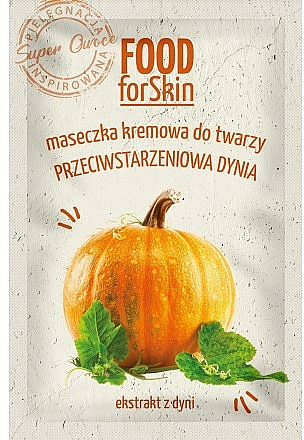 Anti-Aging Face Mask with Pumpkin Extract - Marion Food for Skin Cream Mask Anti-age Pumpkin